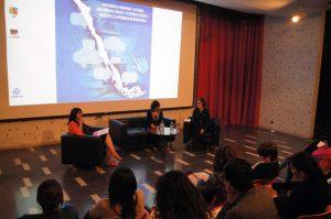 Panel con las invitadas Luz María Terán y Ximena Paniagua.