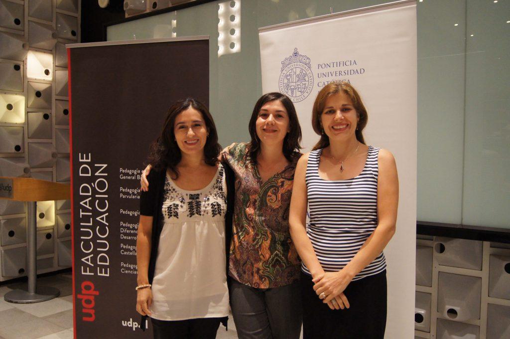 El equipo compuesto por María Inés Susperreguy (izq.), Francisca del Río (centro) y Katherine Strasser.