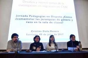 "Segundo panel ""Voces dispares, migrantes en la escuela""."