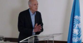 Cristián Cox durante la presentación del estudio.