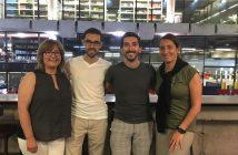 Wladimir Luego y Felipe Duarte junto a Milva Azzini, secretaria de estudios, y Lina Peralta, coordinadora de prácticas.